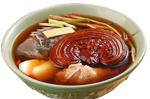 Lingzhi red stewed mushroom helps to improve health