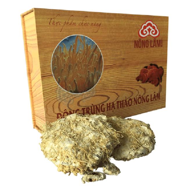 Đông trùng hạ thảo Nông lâm hộp gỗ