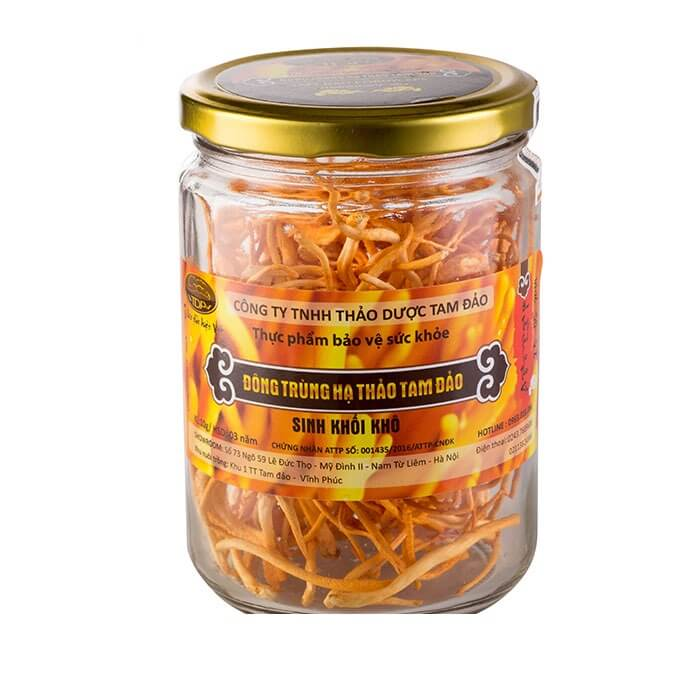 Dried cordyceps dried by sublimation freeze-drying technology