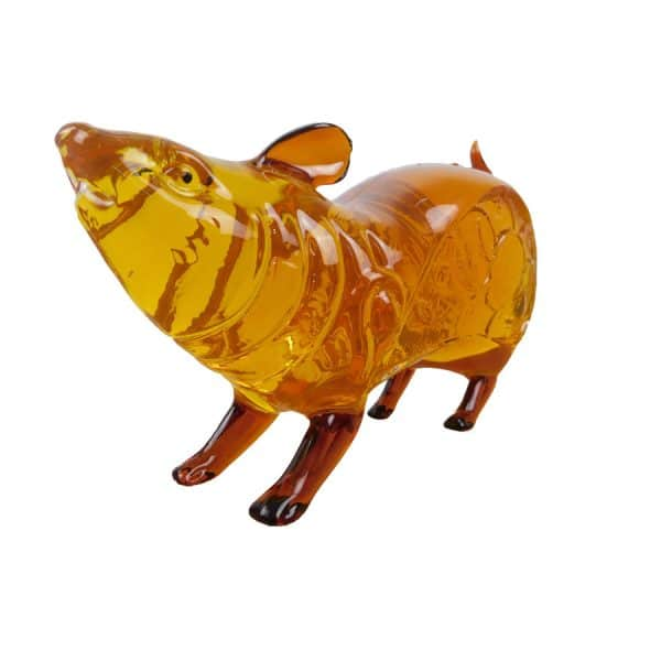 Wine is stored in rat-shaped vase