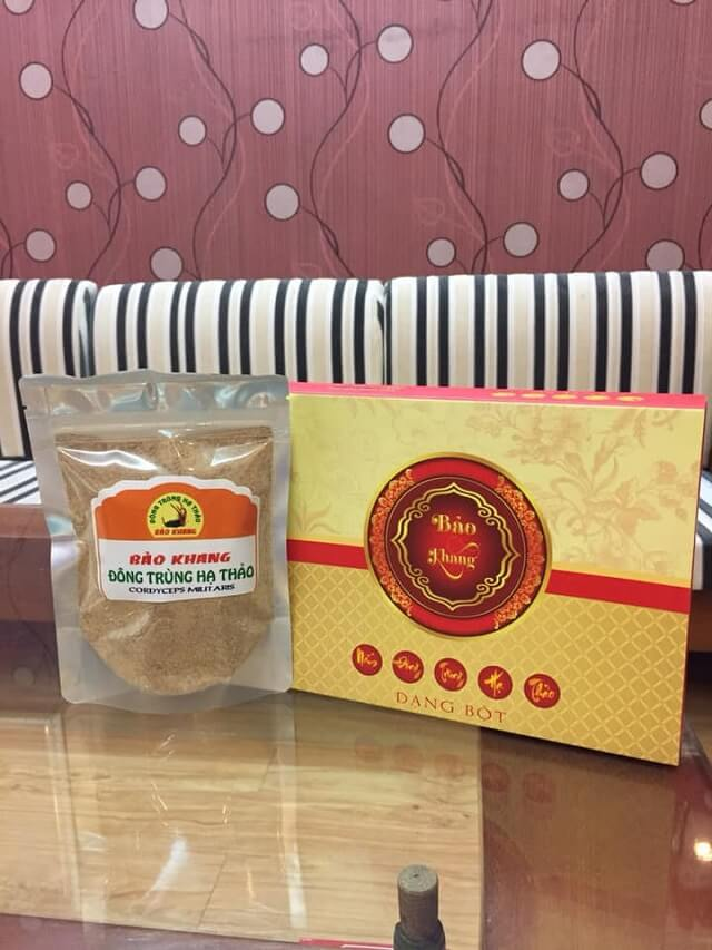 Cordyceps Bao Khang in powder form with perfect quality
