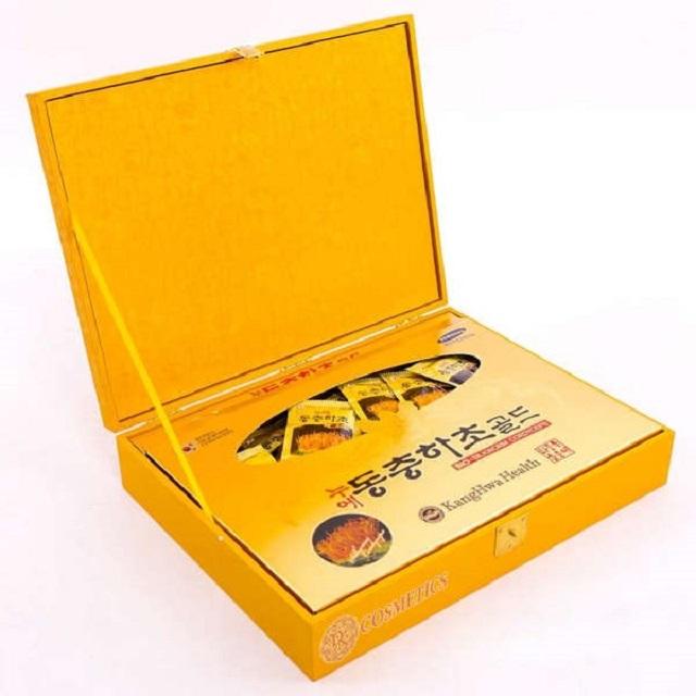 Cordyceps Kanghwa yellow wooden box originating from Korea