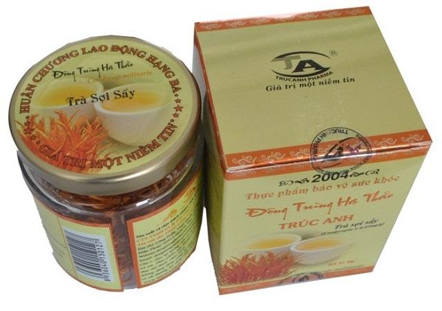 Trà trùng thảo sấy sợi Trúc Anh là sản phẩm được nhiều người lựa chọn