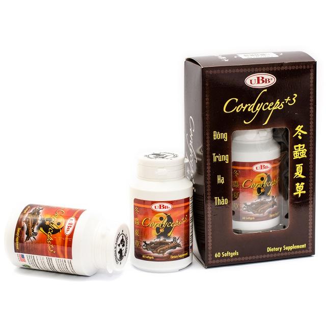 Viên uống đông trùng hạ thảo UBB Cordyceps +3 chứa nhiều thành phần quý