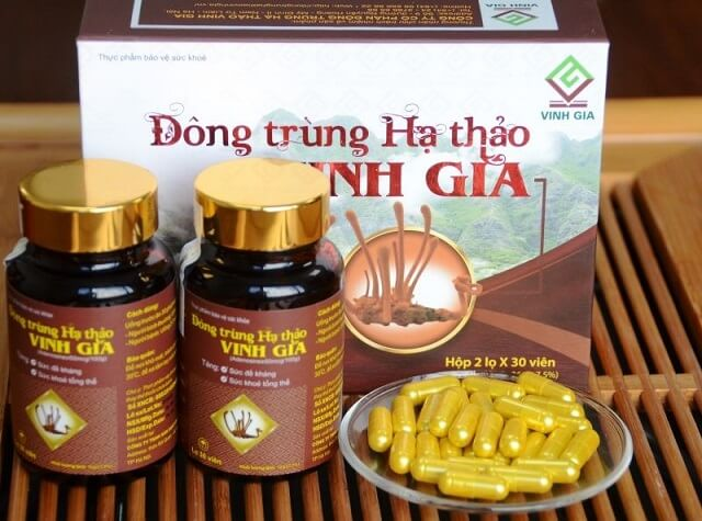 Cordyceps health protection in tablet form of Vinh Gia