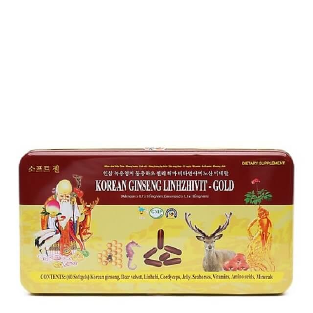 Nấm linh chi Korean Ginseng Linhzhivit là loại nấm cao cấp về dược tính