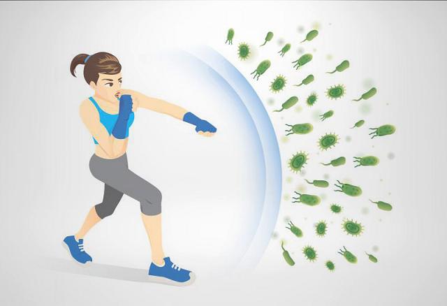 Tập thể dục thường xuyên cũng là cách tăng cường hệ miễn dịch