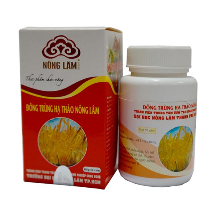 Một sản phẩm đông trùng hạ thảo thương hiệu Nông Lâm